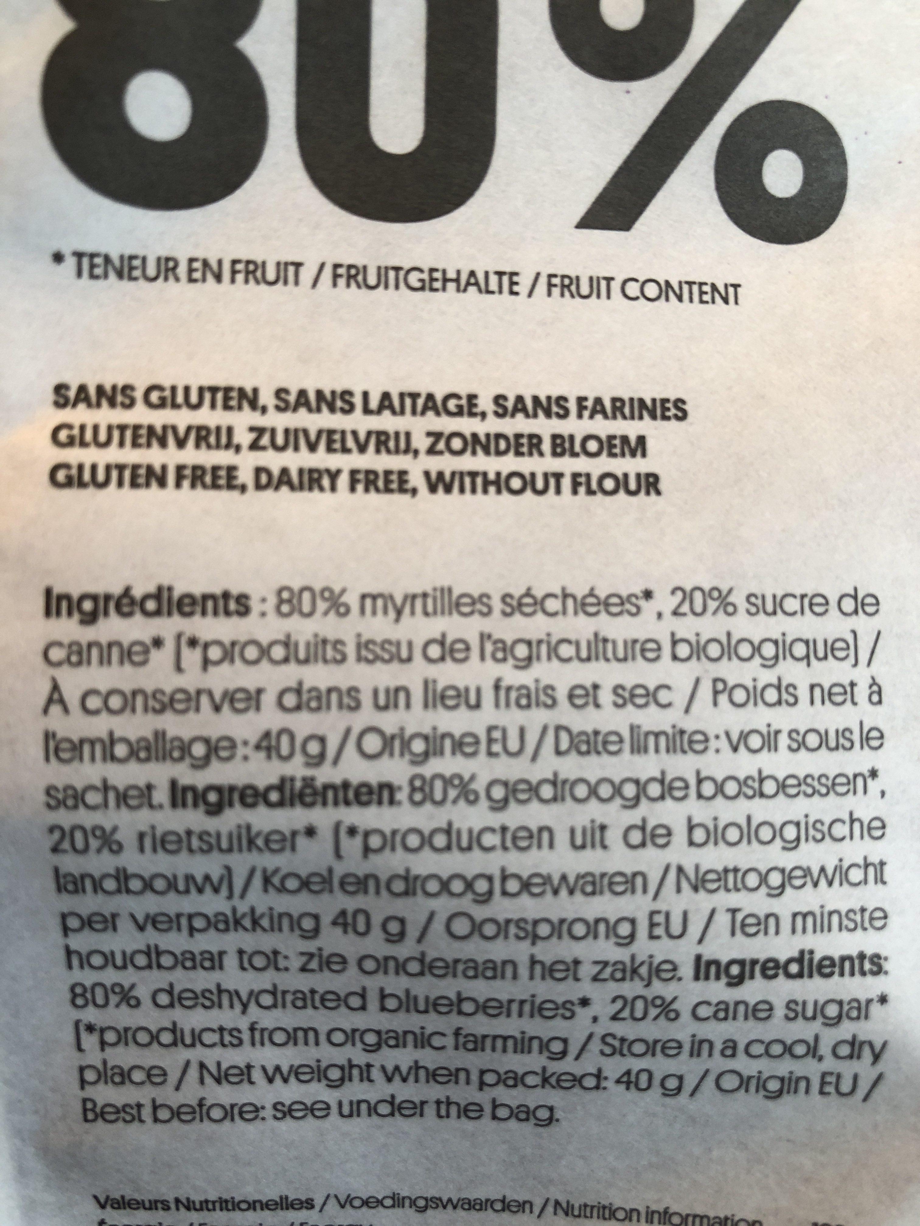 Croquants de myrtilles - Ingredients