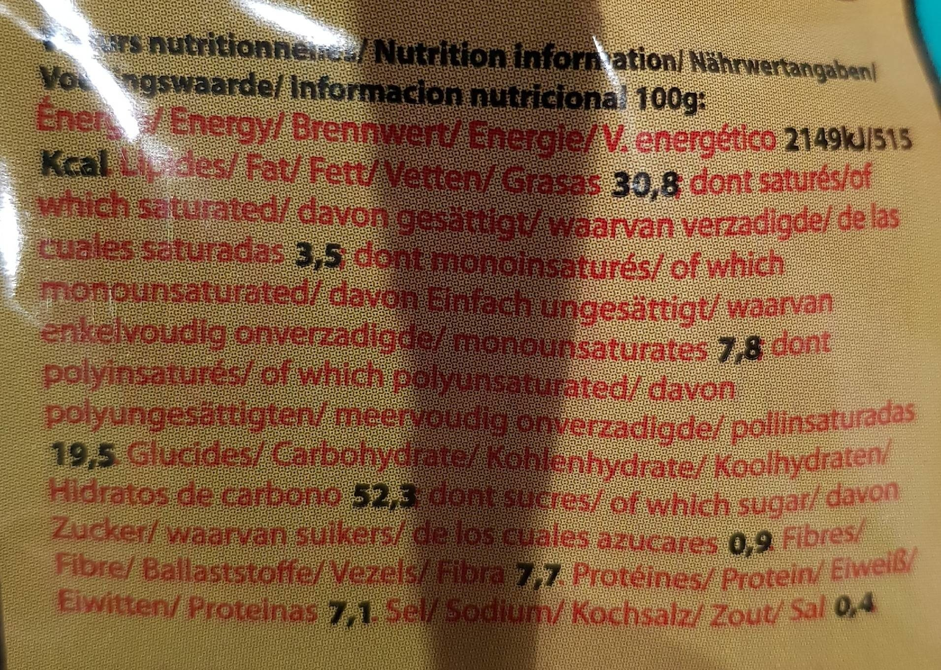 Chips de Madrid - Nutrition facts