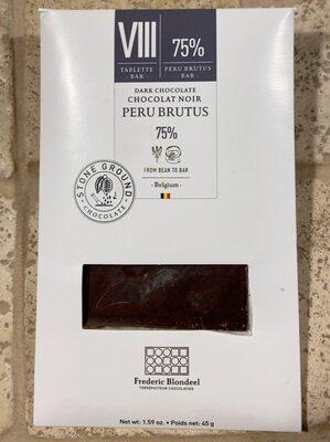 Chocolat noir peru brutus 75% - Produit - fr