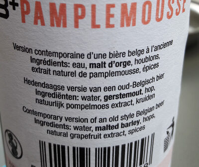 Bertinchamps Pamplemousse - Ingrediënten