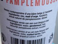 Bertinchamps Pamplemousse - Voedingswaarden