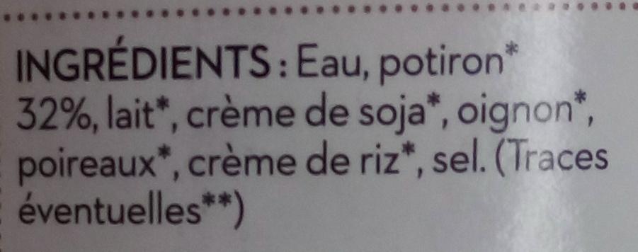Soupe du chef potiron - Ingrédients - fr