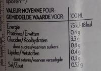 Soupe du chef 5 légumes - Informations nutritionnelles - fr