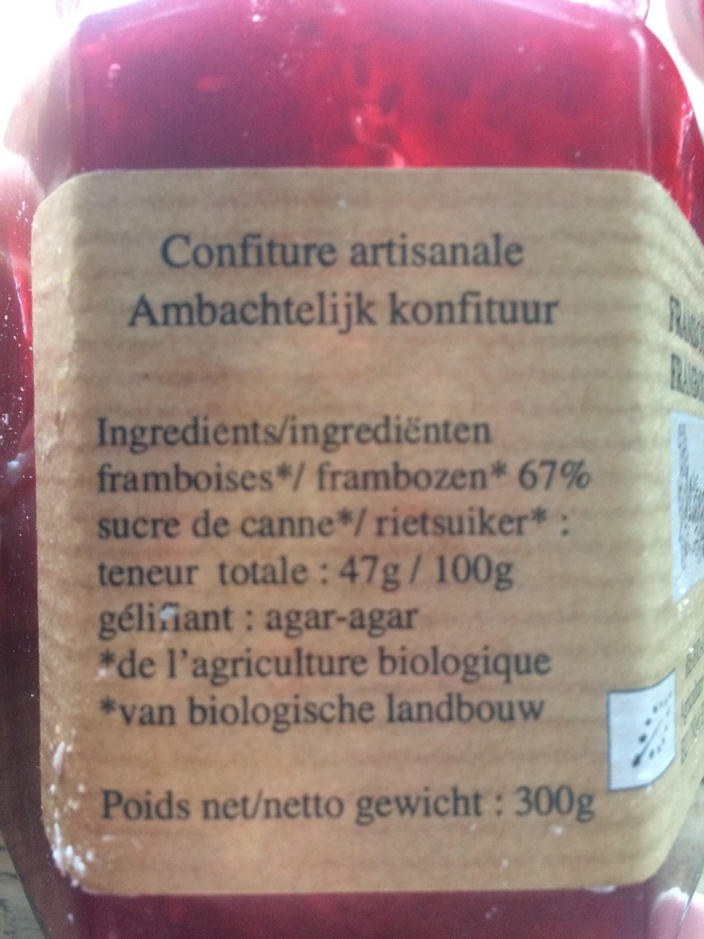 Confiture framboises - Ingrediënten