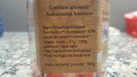 Confiture framboises - Voedingswaarden