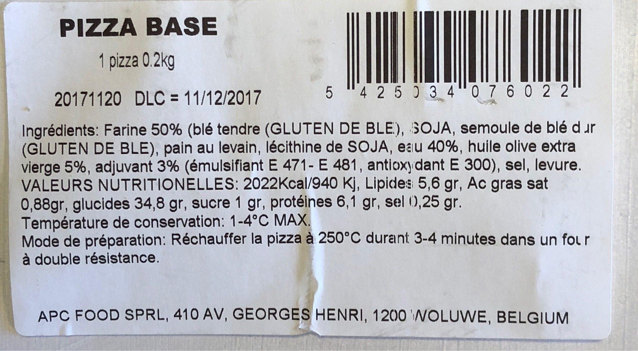 Pizza base - Produit - fr