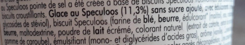 Glace au Speculoos Belge et Pointe de Sel Marin - Ingrediënten - fr