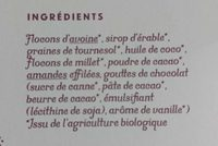 Granola chocolat - Ingredients - fr