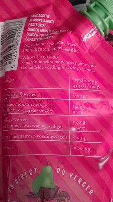 Pommes+Fraise - Informations nutritionnelles