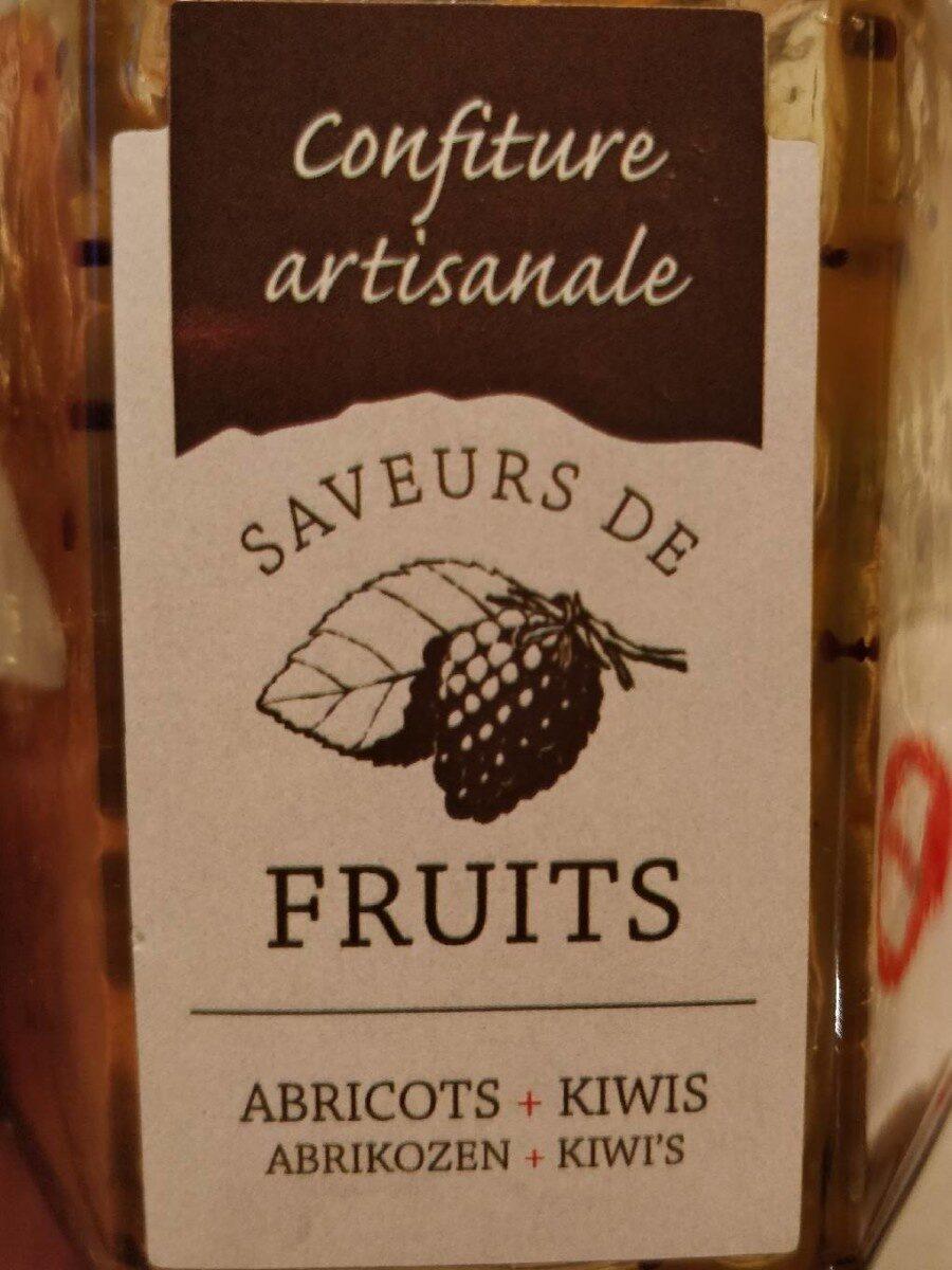 Confiture artisanale abricot + kiwi - Product - fr