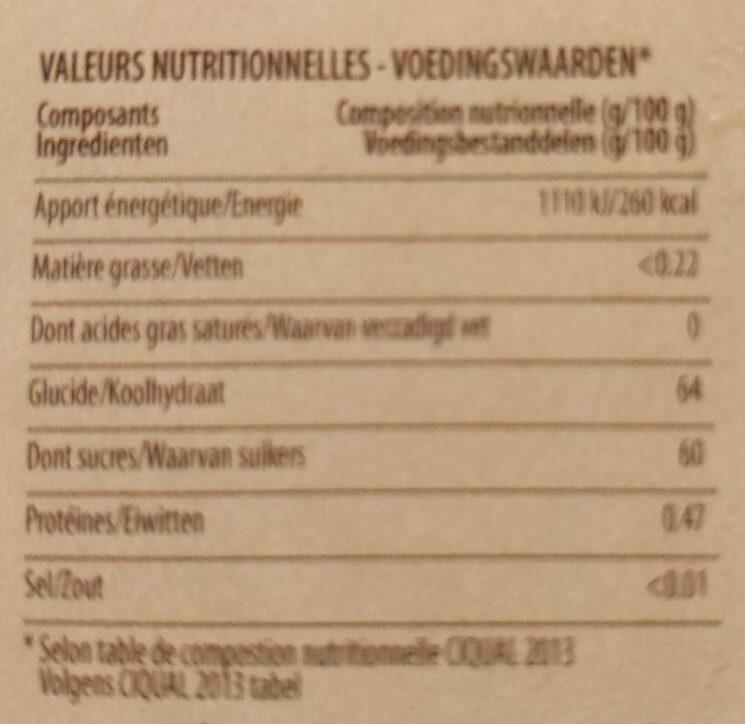 Confiture artisanale abricot + kiwi - Voedingswaarden - fr