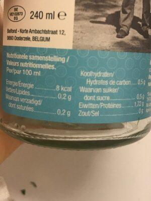 Fumet de poisson - Voedingswaarden - fr