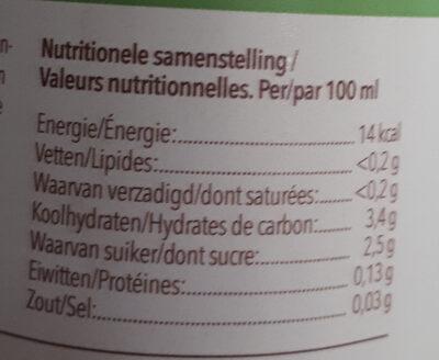 fond de légumes - Voedingswaarden