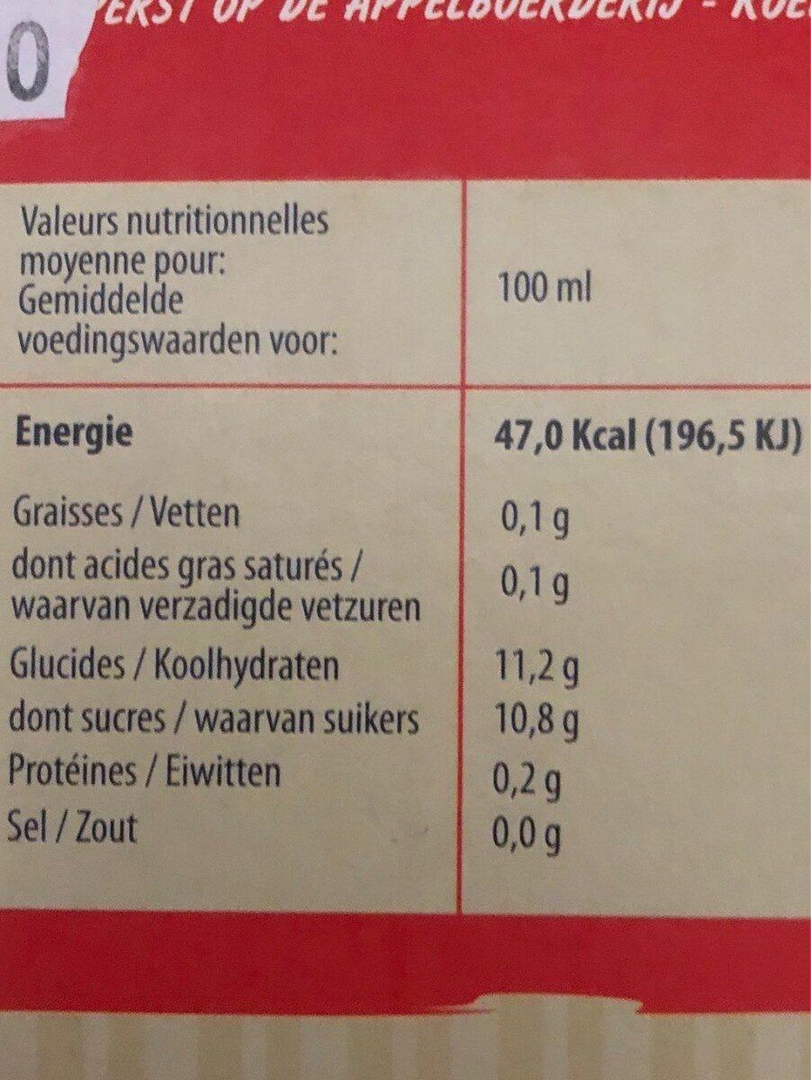 Jus de pomme fraise - Voedingswaarden - fr