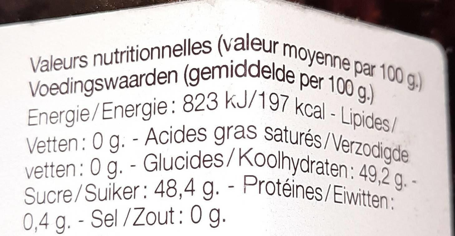 Confiture de fraises - Voedingswaarden - fr