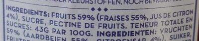 Fraises - Ingrediënten - fr