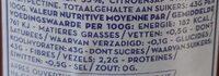 Fraises - Voedingswaarden - fr