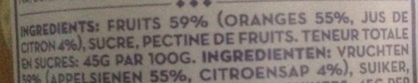 Oranges Appelsienen confiture - Ingrédients - fr