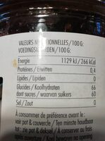 Confiture Joy - Voedingswaarden - fr