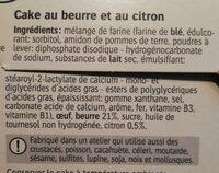 Cake au beurre au citron / Botercake met citroen - Ingredients