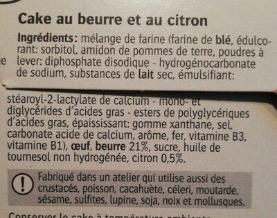 Cake au beurre au citron / Botercake met citroen - Ingrédients