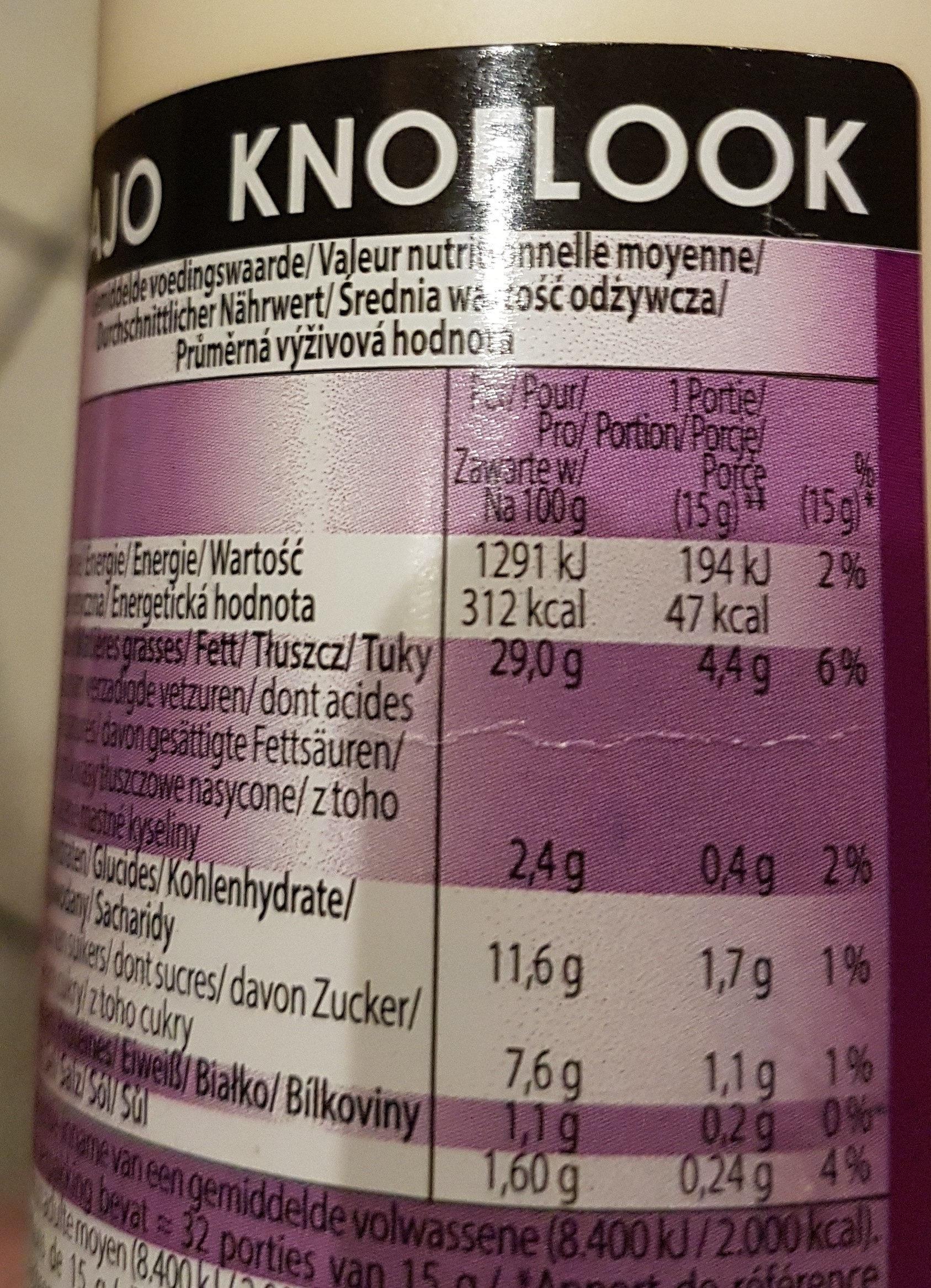 Knoblauch Sauce - Informations nutritionnelles
