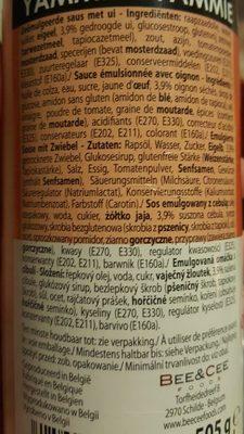 Yammie sauce - Ingredients - de