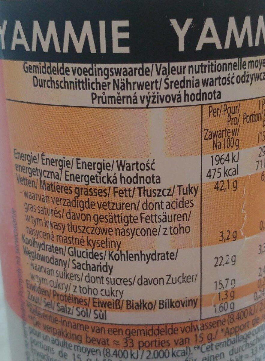 Yammie sauce - Nutrition facts - de