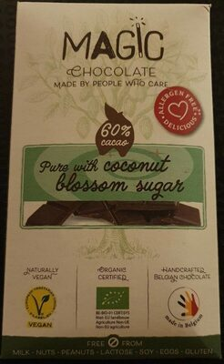 Pure (60% cacao) with coconut blossom sugar - Product - fr