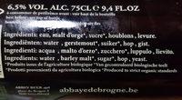 Brogne blonde - Ingredients - fr