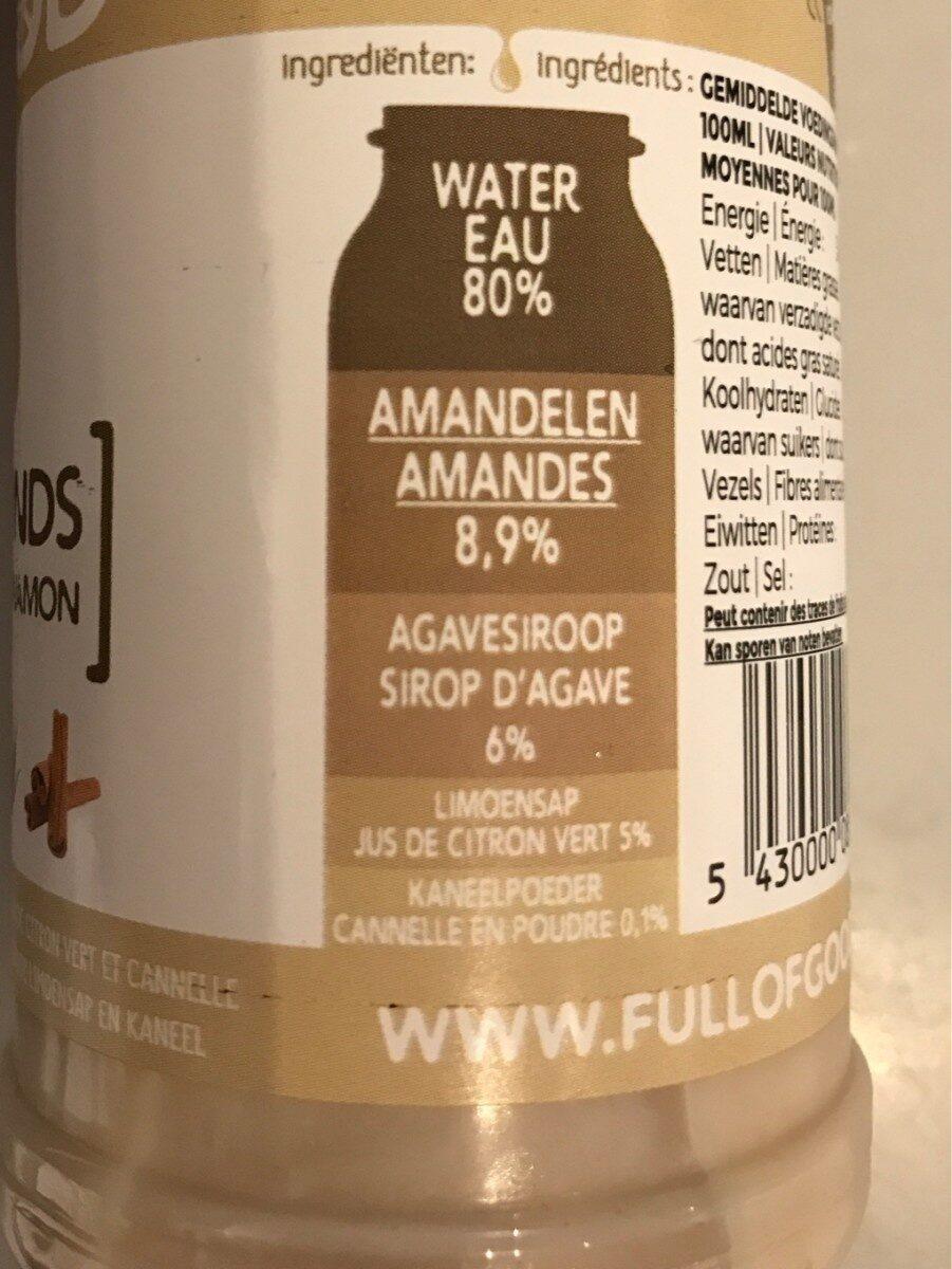 Almonds agave cinamon - Ingrediënten