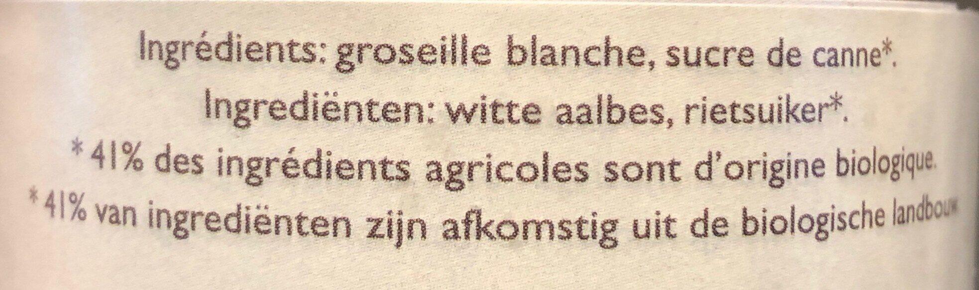 Confiture de groseilles blanches - Ingrediënten - fr