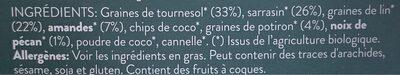 Raw Granola Nuts & Seeds - Ingrediënten