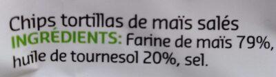 Tortilla Chips Nature - Ingrediënten