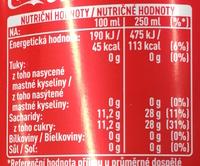 كوكاكولا اب - Wartości odżywcze