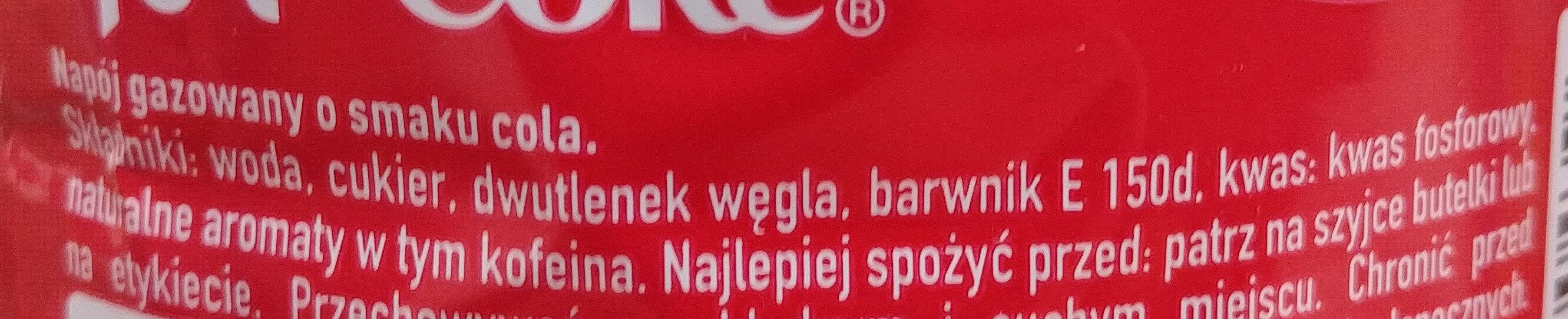 كوكا كولا - Składniki - pl