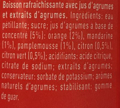 Fanta Citrus Soda - Ingrédients - fr