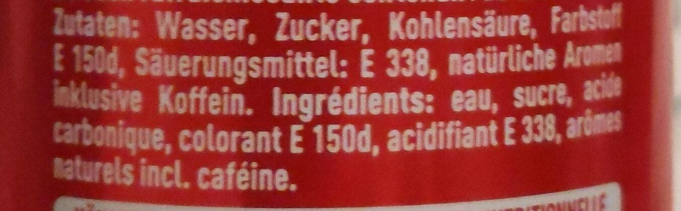 Coca Cola - Zutaten - de