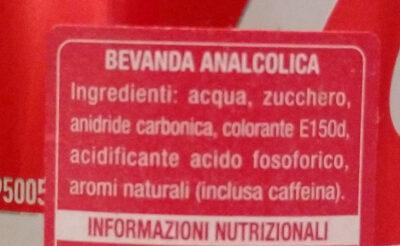 Coca Cola - Ingredienti - it