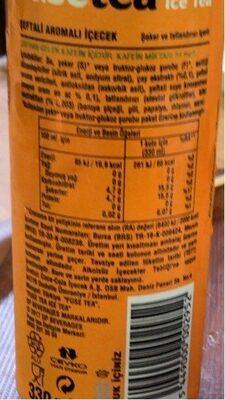 Fuze Peach Ice Tea 330ML - Nutrition facts - en