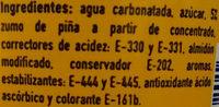 Fanta Piña - Ingredients