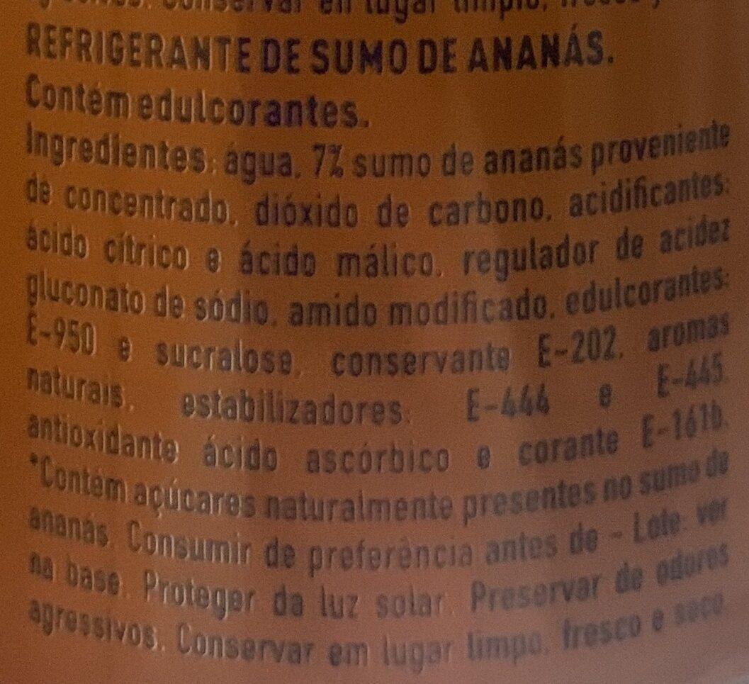 Fanta piña edición limitada - Ingredientes - pt