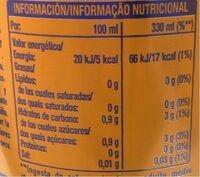 Fanta piña edición limitada - Informação nutricional - es