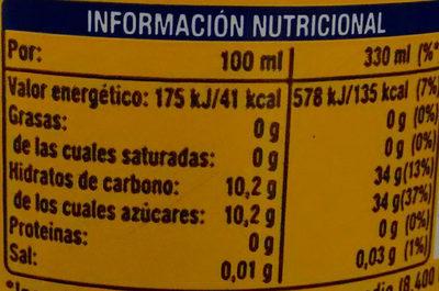 Fanta Piña - Informació nutricional