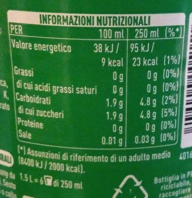 Sprite - Informazioni nutrizionali - it