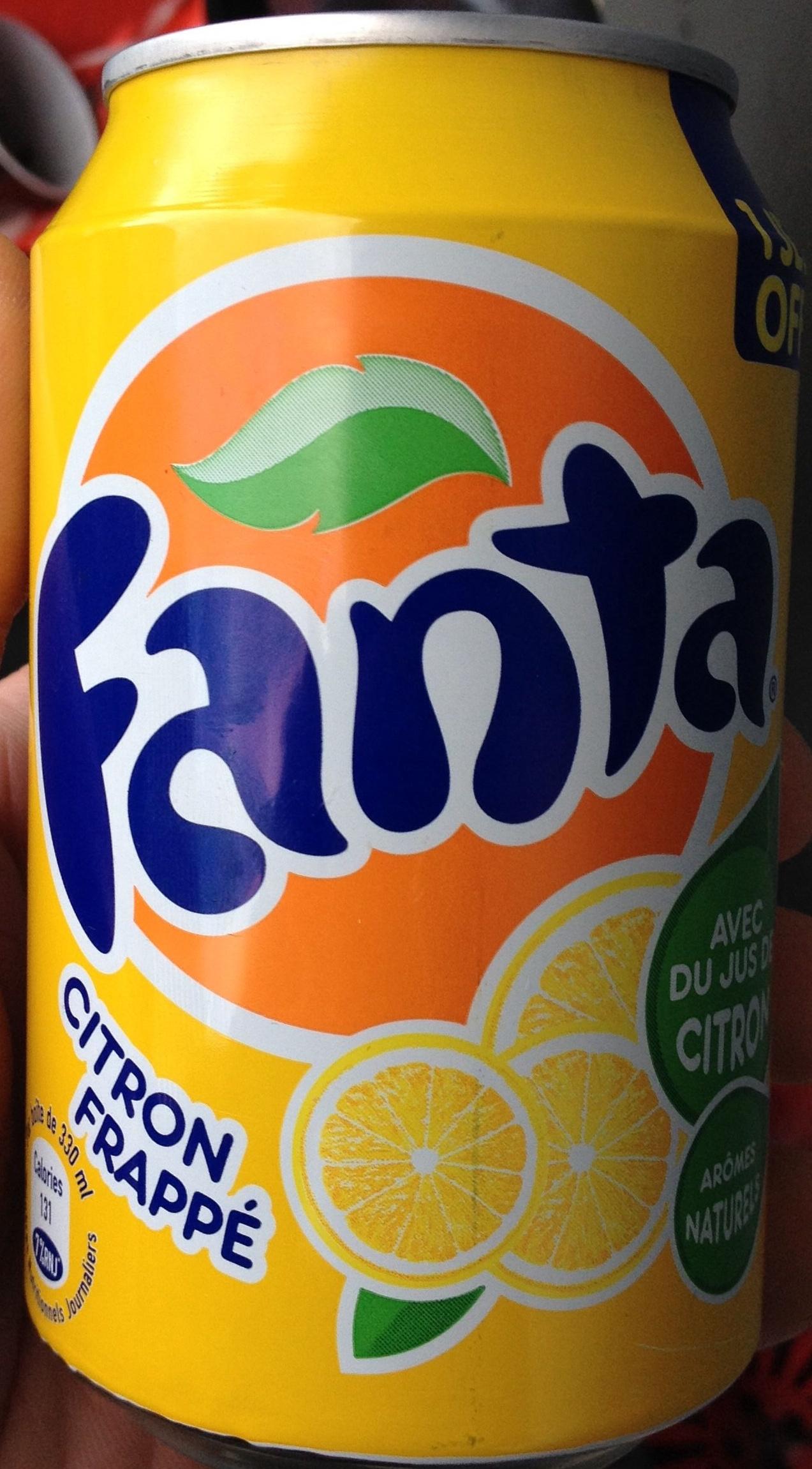 Fanta citron frappé - Producto