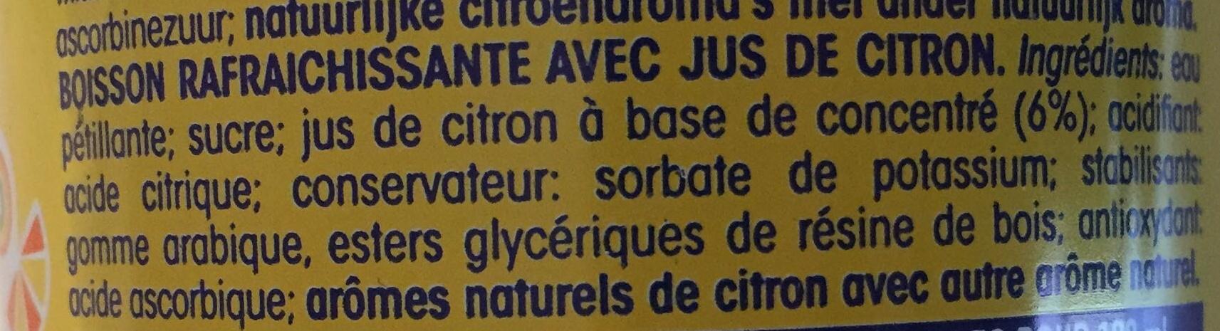 Fanta limón - Ingredients
