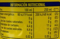 Fanta Limón - Nutrition facts