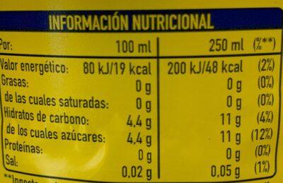 Fanta Limón - Información nutricional - es