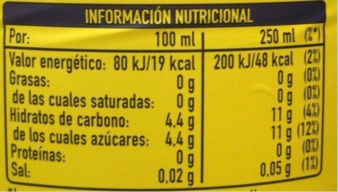 Fanta limon 2l - Valori nutrizionali - es